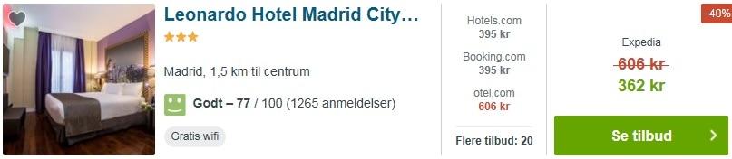 3 stjernet Hotel Madrid